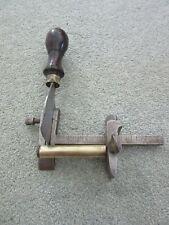 antique Vintage leather plough gauge cobbler saddlers tool moreton & foster 1901