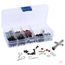 2x Ensemble de coffre à outils et vis spéciaux pour 1/10 HSP RC Car DIY