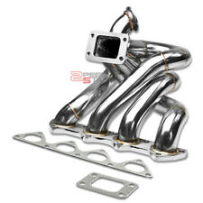 FOR HONDA B-SERIES B16 T3 TOP-MOUNT STAINLESS STEEL TURBO MANIFOLD EXHAUST KIT