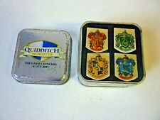 Harry Potter Quidditch World Cup Set Of 4 Enamel House Pin Badges In Tin 2003