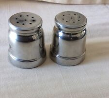 """Set Of B & M 7267 Pewter Salt And Pepper Shakers 1 1/2"""" Tall"""