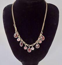 Light Red Rhinestone Vintage Style Necklace