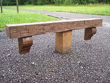 "Six Foot NEW  Hand Hewn Rustic Barn Beam Fireplace Mantel 6 Foot Chunky 8"" by 8"""