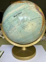 "1960's Le Roy M. Tolman Cartographer Replogle 12"" Diameter Globe World Nation"