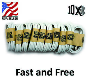 10x OEM Fast Charge Micro USB Cable Rapid Sync Cord Charger Plug Bulk Wholesale