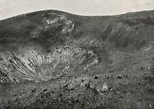 D1271 Messina - Lipari - Cavità di Vulcano - Stampa antica - 1922 old print