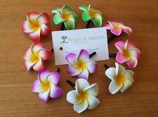 Beautiful Multi-coloured frangipani hair clips - approx 4.5cm flower 10 pcs