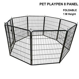 1M High Pet Dog Playpen Foldable Portable Exercise Cage Fence Enclosure Play Pen