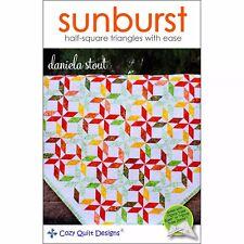 Sunburst Quilt Pattern-Cozy Quilt Designs-Lap-Throw-Twin-Queen Fat 1/4 Friendly