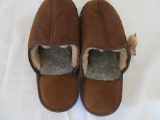 MEN'S HANDMADE SLIPPER LAMBSKIN SHEEPSKIN  LEATHER BOOTIES LINED WITH  WOOL