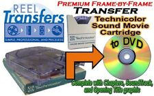 Transfer Technicolor Sound Movie Cartridge to DVD (price per 50 feet with sound)