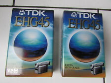 2 Cassettes Camescope VHS-C TDK E-HG