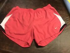 Ladies Nike Performance Athletic Shorts With Built In Underwear S L 12/14 Pink