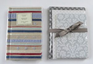 BNIB LAURA ASHLEY NOTEBOOKS - BEACH HOUSE AND SET 3 GREY & WHITE NOTEBOOKS
