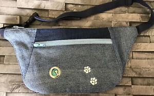 Bum Bag Denim Upcycled Dog Walking Bag