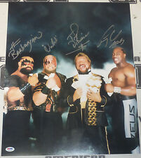 Ted DiBiase Tiny Lister Zeus Barbarian & Warlord Signed WWE 16x20 Photo PSA/DNA