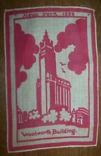 Vintage 1939 New York Worlds Fair Woolworth Building Linen Advertising ROCHESTER