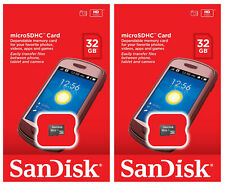 2 x SanDisk 32GB Micro SDHC SD Class 4 UHS-I TF Memory Card SDSDQM-032G Retail