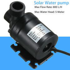 DC 12V 24V Hot Water Circulation Pump Solar Water Brushless Motor 800L/H 5M