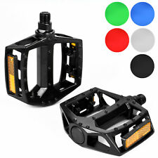 "Bicycle Pedals Metal Alloy Flat Platform 9/16"" Inch 14mm for Road Mountain Bike"