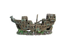 Awesome 2 Piece Ship Wreck/Galleon  Aquarium Ornament Hide Cave Large