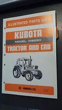 Kubota M5950 Tractor Illustrated Parts List Manual
