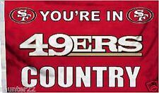San Francisco 49er's Huge 3' x 5' Nfl Licensed Country Flag - Free Shipping