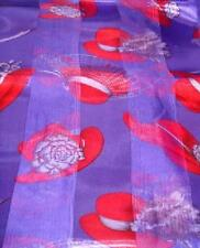 Red Hat Ladies - Satin & Chiffon Scarf with Hats - U Choose Color & Design