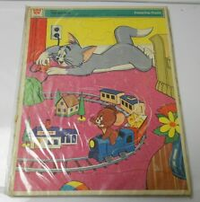 1971 Whitman TOM & JERRY Frame Tray PUZZLE #4557 11x15 VG+