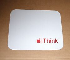 Apple Logo iThink Mouse Pad - Red