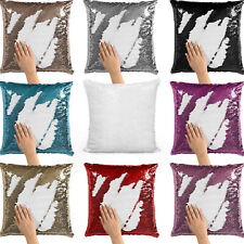 MAGIC SEQUIN CUSHION COVER PILLOWCASE SUBLIMATION PRINTING TRANSFER STYLISH GIFT
