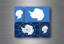 4x adesivi adesivo sticker bandiera vinyl tuning antartico antartide