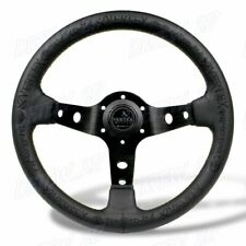 13'' Black Deep Dish Car Racing Drift Race Sport Vertex Steering Wheel Universal