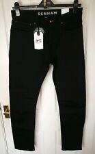 New Denham Mens Jeans Size W32 L32 Black Trousers Cotton Pants Skinny LL