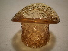 "Vintage Fenton Yellow Glass Top Hat With Rim 3.25"" x 2.5"" Excellent Condition"