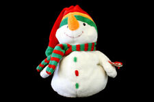 TY Pluffies Collectible MELTON Snowman Soft Plush Toy 2003