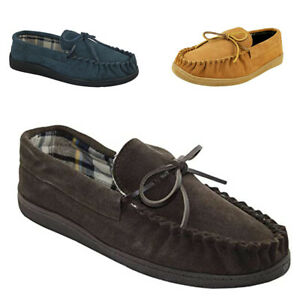 Mens Real Suede Leather Hard Sole Quality Moccasin Slippers Size 7 to 12 England