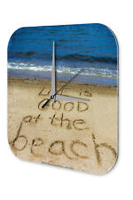 Wall Clock Sayings  Beach Printed Acryl Acrylglass