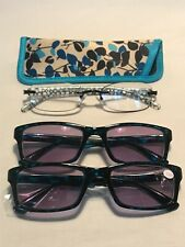 Lot of 3 Women's Reading Glasses +2.00 | Reading Glass Co, Foster Grant, 2 NEW