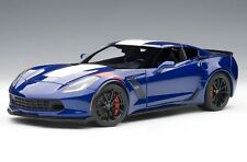 2017 CHEVROLET CORVETTE C7 GRAND SPORT BLUE WHITE STRIPE 1:18 by  AUTOart 71275