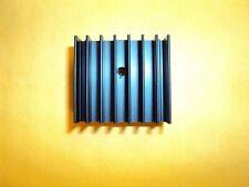 325mm X 30mm X 17mm Black Anodized Aluminium Heat Sink For Power Transistor
