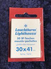 Leuchtturm 50 SF-Taschen mounts pochettes, glasklar-clear-transparent, 30x41 mm