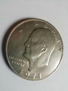 GROSSE PIECE DE 1 DOLLAR EISENHOWER AVEC L'AIGLE 1971 (777)