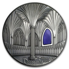 2017 Palau 2 oz Silver $10 Tiffany Art Wells Cathedral - SKU #150408