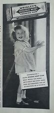 1937 Wrigleys Double Mint Chewing Gum Housework Little Girl Apron Original Ad