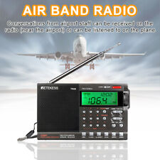 Retekess Portable Air Band/FM/MW/SW Radio Clock Alarm Sleep Timer for Airport
