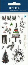Christmas Tree Notebook Journal Stickers | Self Adhesive | Laser Cut Stickers