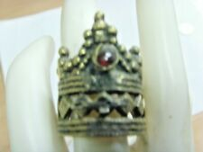1800s antique judaica jewish tribal wedding crown ceremony ring 12 size 50603