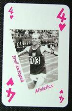 1 x playing card London 2012 Olympic Legends Emil Zatopek Athletics 4H