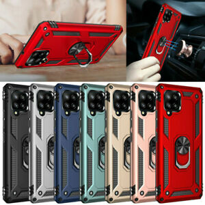 For Samsung Galaxy A42 5G Shockproof Armor Magnetic Ring Holder Stand Case Cover